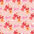 Wedding Seamless Pattern With Elegant Bells With Hearts And Bow Royalty Free Stock Images - 63043639