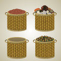 Set Of Four Baskets. Royalty Free Stock Photo - 63072685