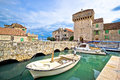 Historic Kastel Gomilica Architecture View Royalty Free Stock Image - 63081246