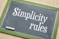 Simplicity Rules  Blackboard Sign Royalty Free Stock Photos - 63083788