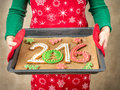 2016 New Year Cookies Stock Photos - 63084313