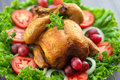Whole Roasted Chicken Stock Photo - 63087390