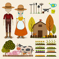 Farming Agriculture And Cattle Icon Collectrion Set Consists Of Stock Images - 63092484