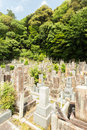 Buddhist Cemetery Chion-In Temple Headstones V Royalty Free Stock Images - 63094509