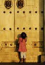 The Child In Front Of The Door Stock Images - 6313004