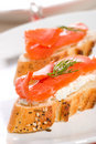 Salmon Cheese Canape Stock Images - 6316264