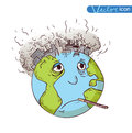 Earth With Pollution, Vector Stock Photography - 63102412