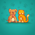 Cat And Dog Royalty Free Stock Photography - 63114077