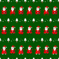 Vector Seamless Pattern With Funny Santa Clause And Fir Tree Stock Image - 63117811