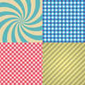 Four Types Of Retro Texture And Patterns Eps10 Stock Image - 63124021