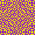 Modern Geometric Seamless Pattern With Squares, Circles And Stars Of Yellow And Violet Colors Royalty Free Stock Image - 63129106