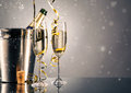 Pair Glass Of Champagne. Celebration Theme Royalty Free Stock Images - 63130179