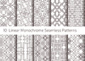 Geometric Abstract Seamless Pattern. Linear Motif Background Stock Images - 63135204