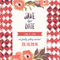 Tropic Save The Date Card With Flowers. Can Be Stock Image - 63149561