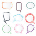 Set Of Various Colorful Speech Bubbles In Different Frames, Vect Royalty Free Stock Photos - 63157178
