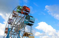 Ferris Wheel With Blue Sky In The Background Royalty Free Stock Photo - 63159035
