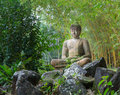 Buddha Statue In Bamboo Forest Royalty Free Stock Photo - 63169025