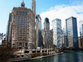 Chicago City, View From River Royalty Free Stock Images - 63180289