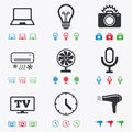 Home Appliances, Device Icons. Air Conditioning Royalty Free Stock Photography - 63185217