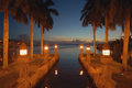Aruba Canal Night View Romantic Site. Stock Images - 63189764