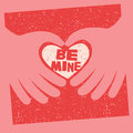 Valentine S Day Card With Message Be Mine Stock Images - 63189804