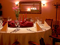 Red Dining Room Stock Photography - 6322432