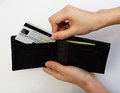 Person Taking Credit Card From Wallet Royalty Free Stock Photos - 63218058