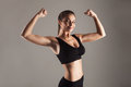 Model With Good Figure Doing Training Royalty Free Stock Photos - 63227688