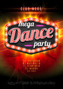Patry Dance Retro Display Board With Lights. Vector Background For Flyer Or Poster Royalty Free Stock Photos - 63229638