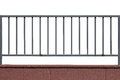 Metal Fence And Cement Wall Isolated Stock Photography - 63243892