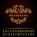 Monogram Design Elements, Graceful Template. Elegant Line Art Logo Design. Business Gold Emblem Letter B For Restaurant, Royalty, Royalty Free Stock Photos - 63245908