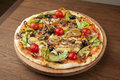 Vegetarian Pizza With Vegetables Royalty Free Stock Photos - 63252208