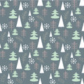 Seamless Christmas Pattern With Trees. Ideal For Wrapping Paper, Invitation Card Or Other Print Materials Stock Images - 63255144