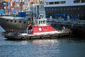 Tug Boat At Work Royalty Free Stock Image - 63264626
