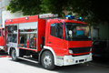 Fire Truck In Situation With Flashing Lights Royalty Free Stock Photo - 63264865