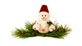 Christmas Toy Snowman On A Pine Branches. Royalty Free Stock Photo - 63296555