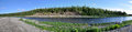 Panoramic River Landscape In The Polar Urals. Royalty Free Stock Photos - 63305958