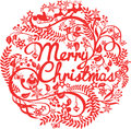 Merry Christmas Cutout Silhouette Stock Photography - 63314532
