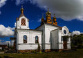 Holy Cross Church In Town Vysokaye Royalty Free Stock Images - 63324799
