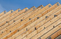 Roof Trusses In A Line Stock Image - 63326811