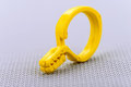 Plastic Yellow Clothes Pin Stock Photo - 63341690