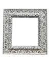 Old Vintage Ornate White Picture Frame With Pattern Isolated Stock Photo - 63342960