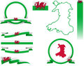 Wales Banner Set Royalty Free Stock Photo - 63355635