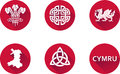 Wales Flat Icon Set Stock Photos - 63355643