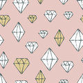 Vector Seamless Pattern With Hand Drawn Watercolor Diamond Cryst Royalty Free Stock Image - 63356456
