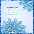 Abstract Template Of Card. Frame Pattern Invitation With Place For Text. Lace Ornament, Mandala. Arabic, Islam Design Elements. Ve Stock Photos - 63358083