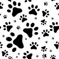 Seamless Pattern With Cats Footprints Royalty Free Stock Photo - 63363555