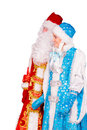 Ded Moroz (Father Frost) And Snegurochka (Snow Maiden) Stock Images - 63364574