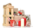 Vintage Handmade Craft Christmas Or New Year 2016 Rustic Present Stock Image - 63367741