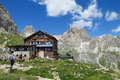 Refugio Restaurant In The Alps Royalty Free Stock Photography - 63367937